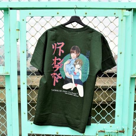 LONELY/論理 SAKURAMANA S.O.D T-shirt -green-