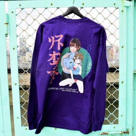LONELY/論理 SAKURAMANA S.O.D. Long Sleeve T-shirt  -purple-