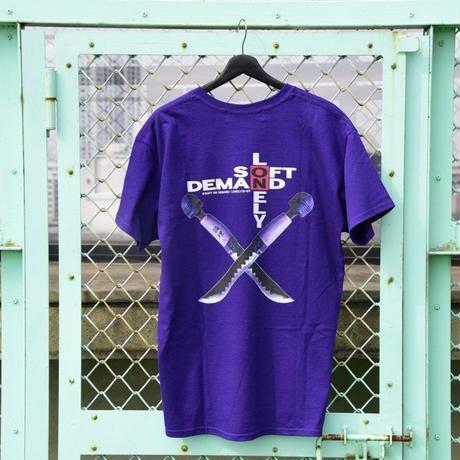 LONELY/論理OTONA NO WEAPON T-Shirt  -purple-