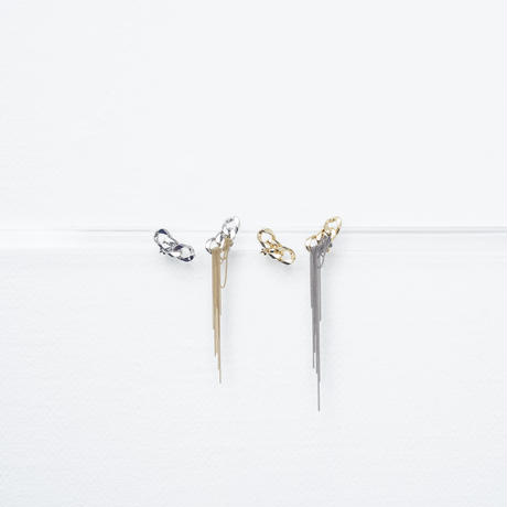 Wire couture earing