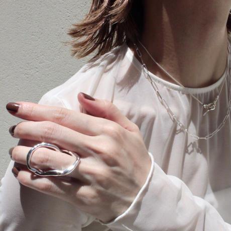 Norme long frame necklace / Men's (Silver)