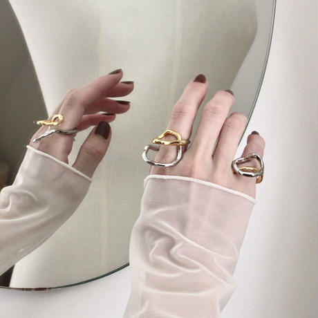 Tangled earcuff ring (1P) (mix color)