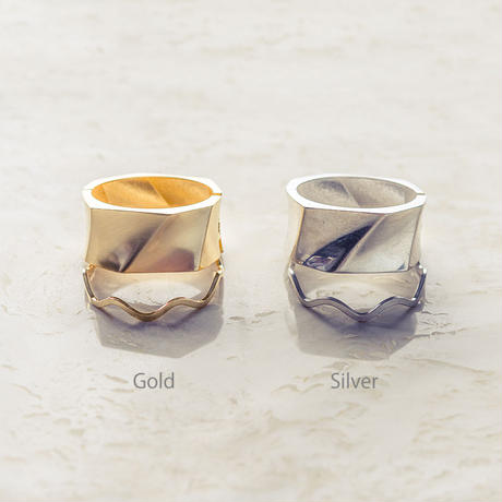 Wave twin bangle (2Pset)
