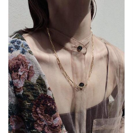Norme long frame necklace / Men's (Gold)