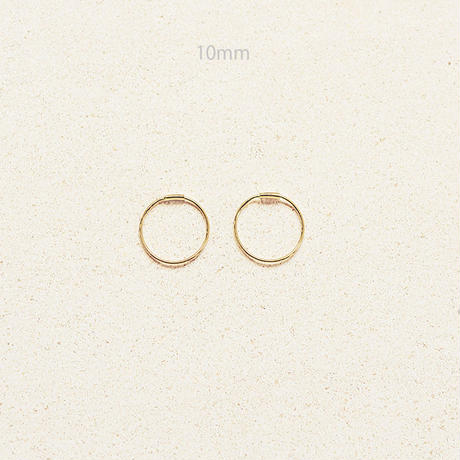 Halo hoop pierce (Small/2P) / Gold
