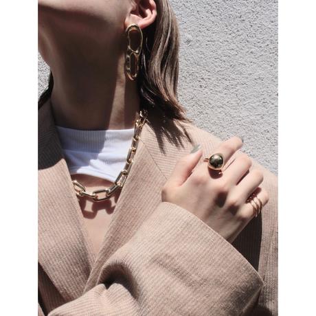 Metal stone ring