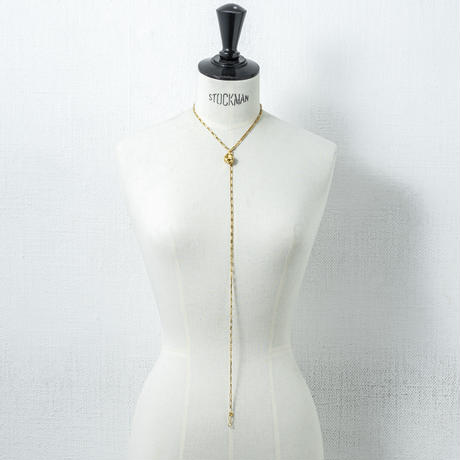 Ethical parts long necklace