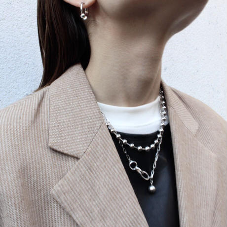 Simple silver necklace[Limited]