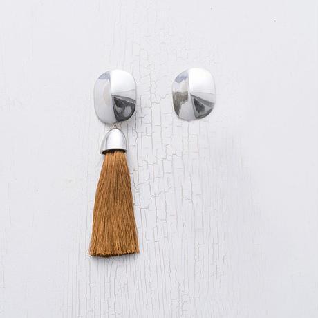 Tassel earing (asymmetry / Terracotta)