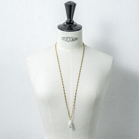 Baroque pearl long necklace
