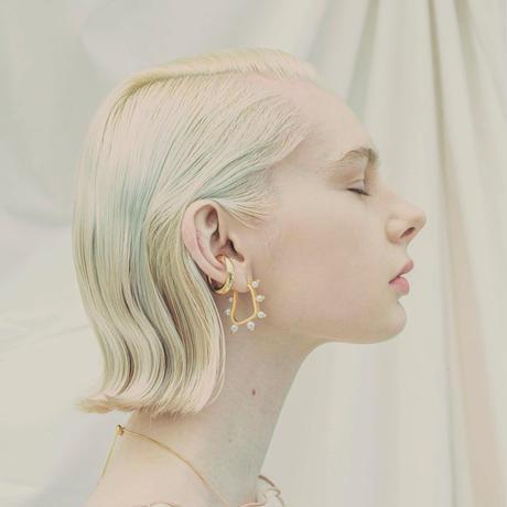 Organic pearl pierce / Small (2P)