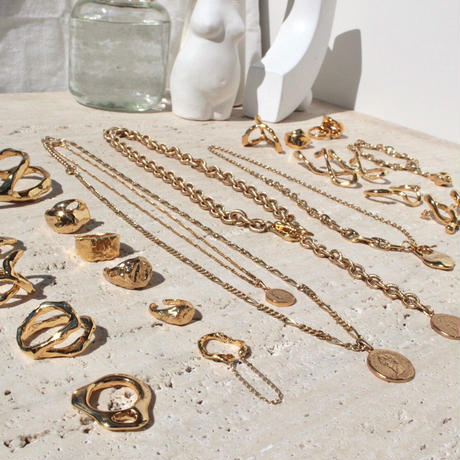 Aging coin necklace (2P Set)