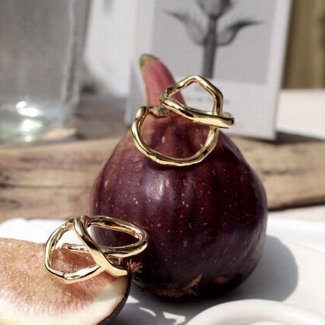Tangled earcuff ring (1P) (one color)