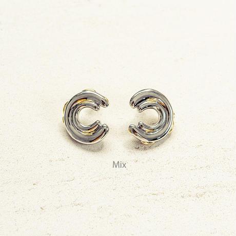 Exude double circle pierce (2P) / Mix color