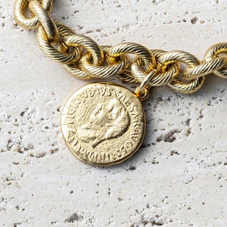 Aging coin bracelet