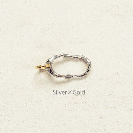 Peg double ring / Silver×Gold