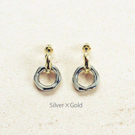 Peg pierce (2P) / Silver×Gold