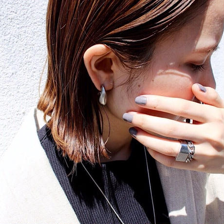 Ethical modern round pierce / Gross silver [Limited color]