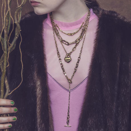 Aging chain necklace