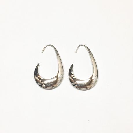 Ethical modern hoop pierce / Gross silver [Limited color]
