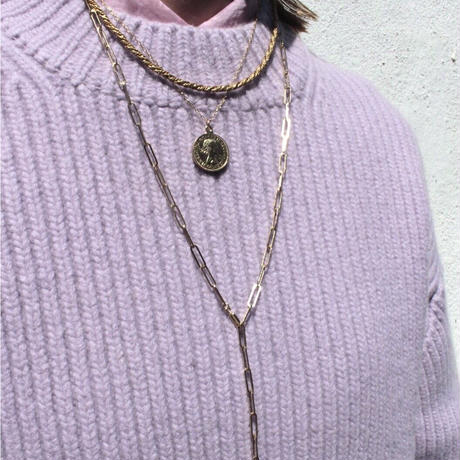 Norme necklace (Bold) / K10YG