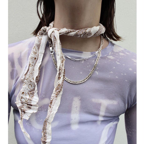 Norme long frame necklace / Women's (Silver)