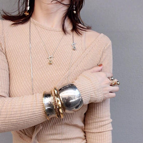 Bronze flat bangle (one color)