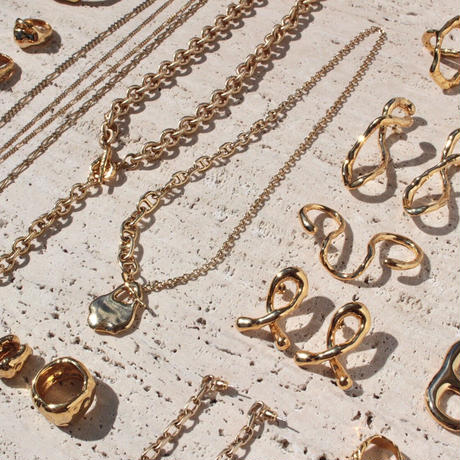 Ethical brass necklace(2way:Necklace & Anklet)