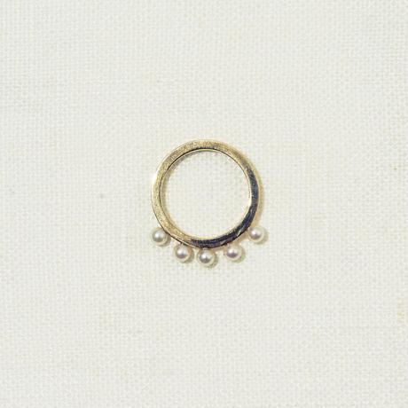 「Dresden」 circle pearl ring / #9
