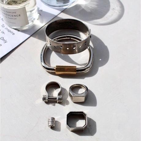 Holding key bangle / Silver×Gold[Unisex line]