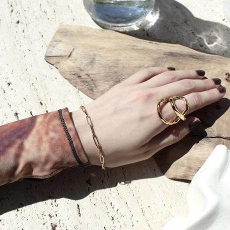 Norme long frame bracelet / Unisex (Gold)
