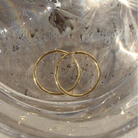Halo hoop pierce (Medium/2P) / Gold