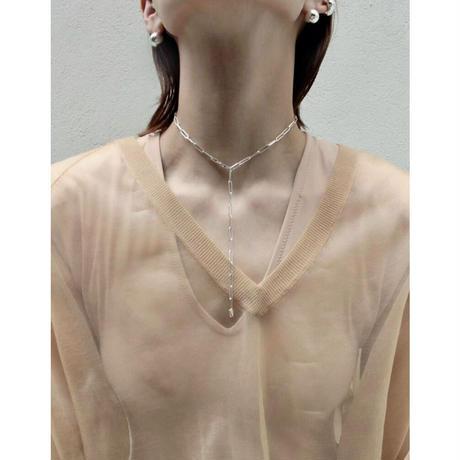 Norme long frame necklace / Men's long type (Silver)