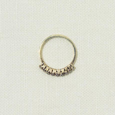 「Dresden」 9粒 zirconia ring