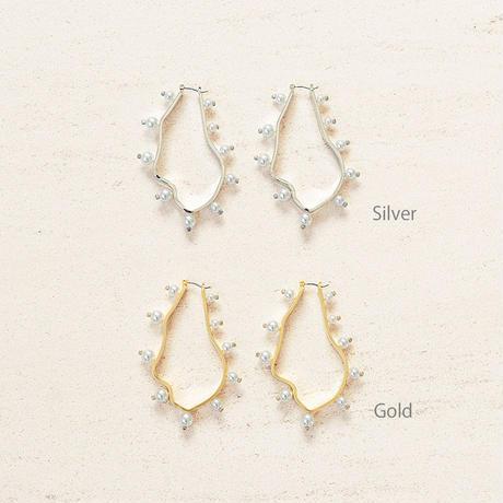 Organic pearl pierce / Large (2P)