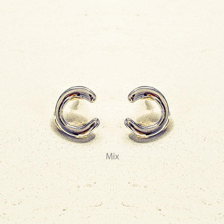 Exude circle pierce (2P) / Mix color