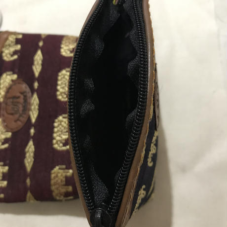 象柄の財布 パープル
