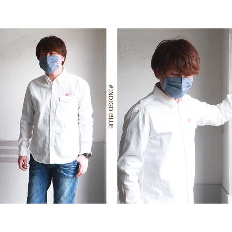 江坂ジーンズ 日本製シャンブレー生地アメカジ・マスク 送料無料 洗えるマスク 布マスク