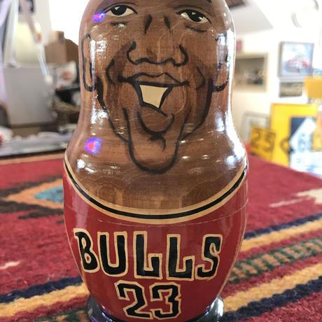 木製マトリョーシカ バスケット シカゴ ブルズ BULLS