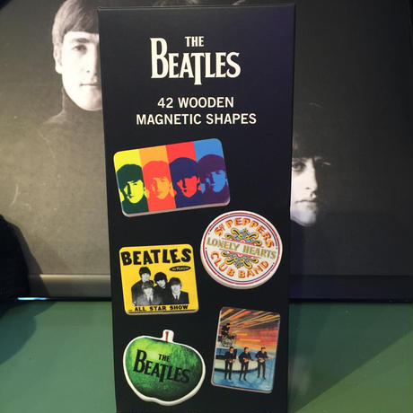 THE BEATLES 42 WOODEN MAGNETIC SHAPES ビートルズマグネット