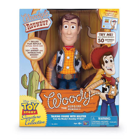 トイストーリー シグネチャーコレクション ウッディトーキングフィギュア Thinkway toys