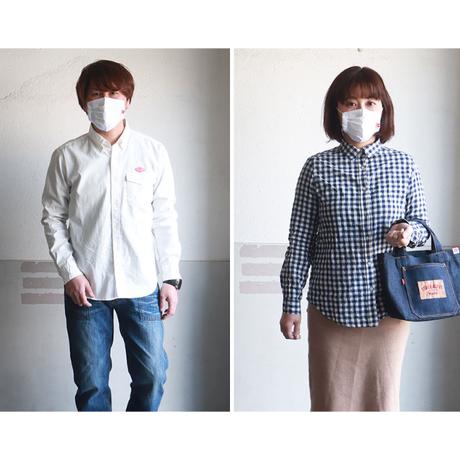 江坂ジーンズ 日本製オックスフォード生地・アメカジ・マスク 送料無料 洗えるマスク