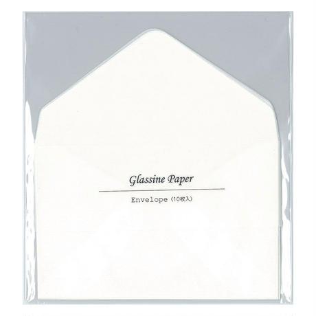 グラシン封筒【10枚入 小ヨコ型】100×65mm|白無地 ダイヤ貼り 名刺サイズ 透ける ピアス パッケージ