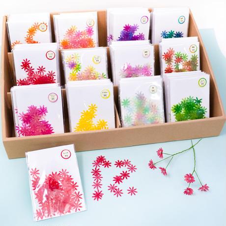グラシンクラフトパーツ|フラワー12種|ペーパーフラワー 造花 コラージュ素材