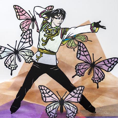 グラシン紙 和風しぼり 単色 折り紙サイズ 日本の伝統色 青竹 ひわ萌黄 山吹 銀朱 紺青 菖蒲 透けるデザインペーパー 薄葉紙