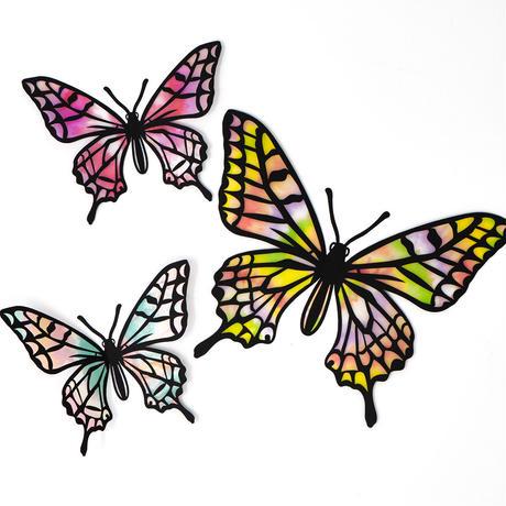 グラシン紙|タイダイ模様 3色アソート|折り紙サイズ|透けるデザインペーパー レッド イエロー ミント