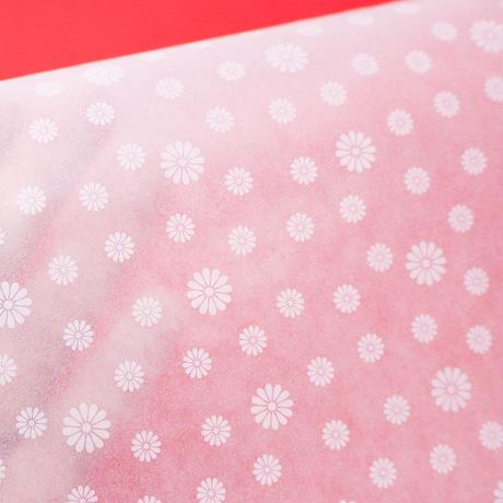限定生産グラシン紙 ホワイトパターン セミB5 透けるデザインペーパー ホワイトインキ使用