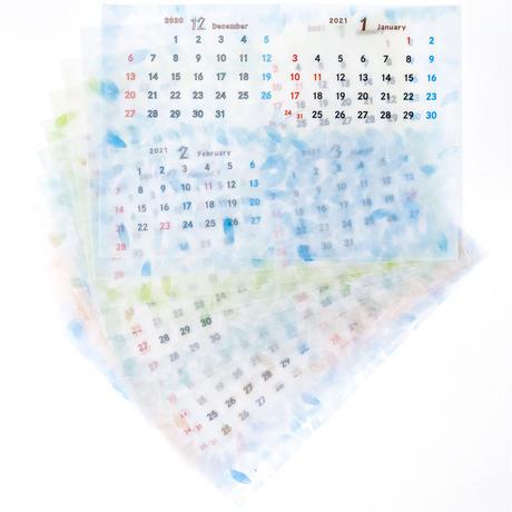 発売予定◆2022透けるカレンダー トレーシングペーパー 卓上 4か月表示