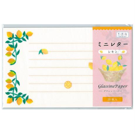 グラシン紙|ミニレター フルーツ|一筆箋|いちご さくらんぼ レモン 青りんご 透けるデザインペーパー