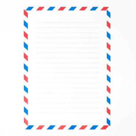 グラシン紙|エアメール柄|A5|透ける便箋 メモ用紙 フレンチカジュアル トリコロール